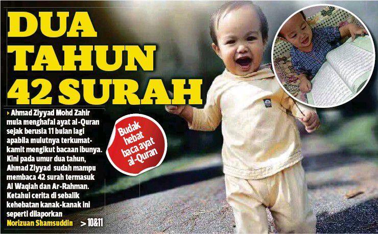 2 Tahun Dah Hafal 42 Surah - Ibu Bongkar Rahsia Didikan Ziyyad